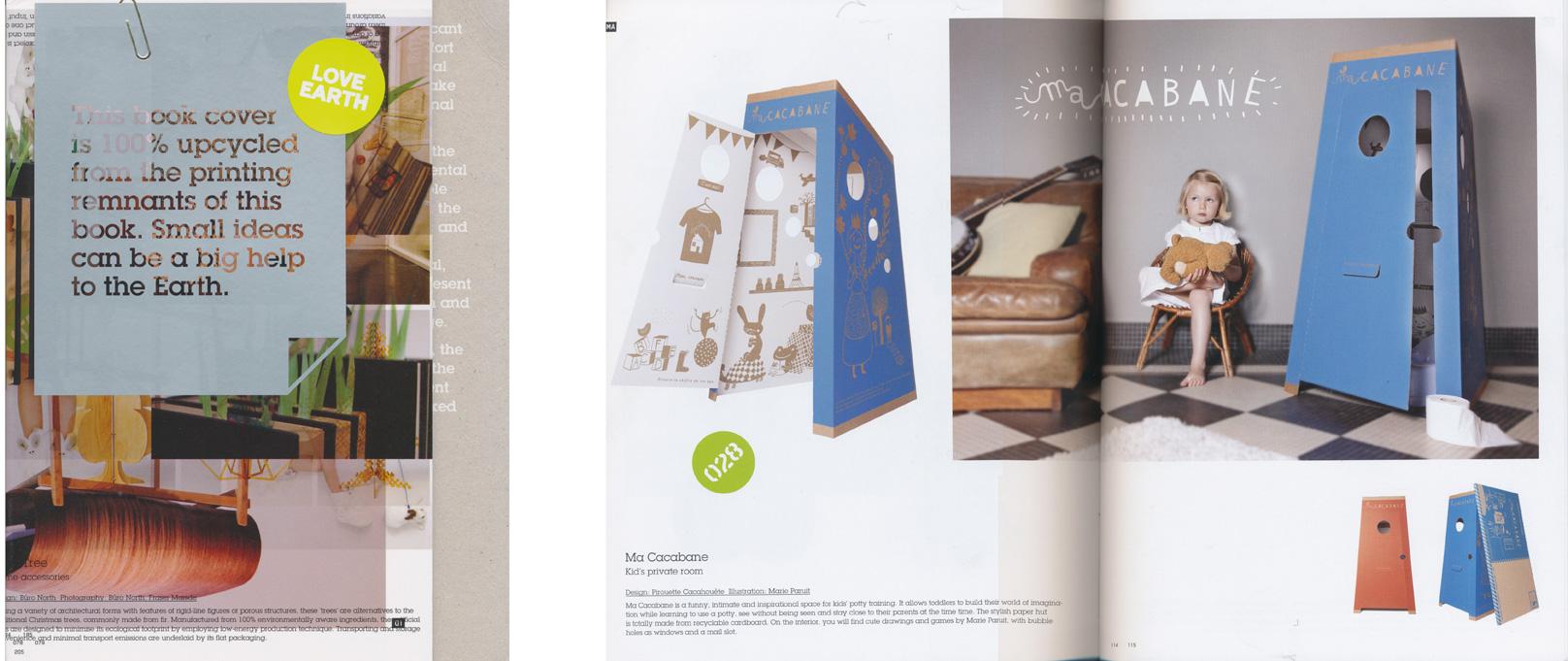Publication ma Cacabane dans Love Earth livre de design